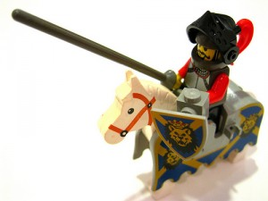 charging lego pep talk jousting