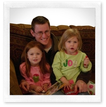 With my nieces, Kailee and Sophia, on Christmas morning