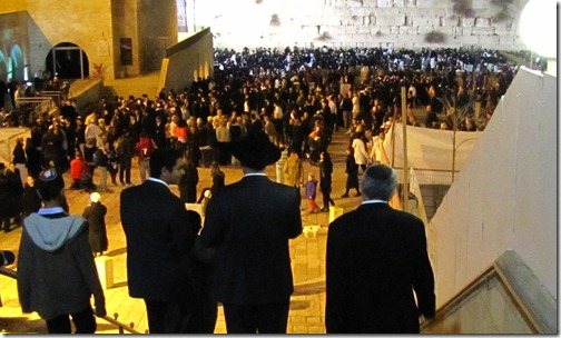 Wailing Wall on Shabbat Dec 23rd 2011