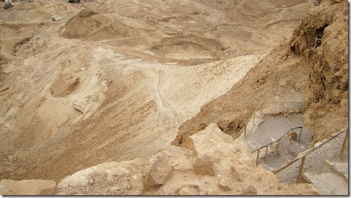 Seige Ramp Built by the Romans at Masada