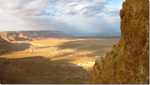 View Looking North from on Top of Masada (Dead Sea to the East on the Right)