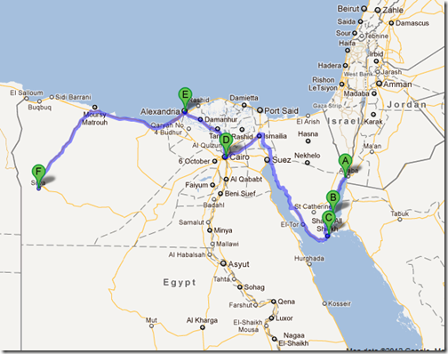 My Bus Route through Egypt