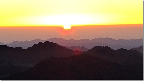 Sunrise from on top Mount Sinai