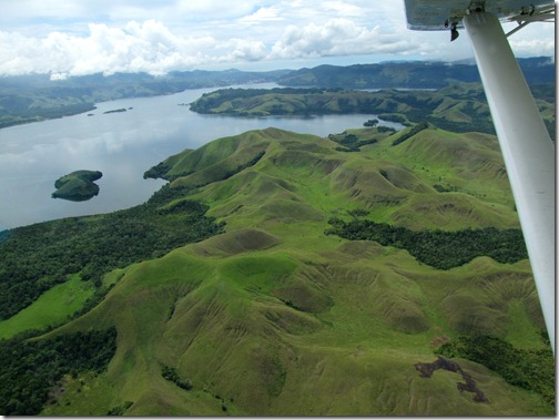 Near Sentani from the Air