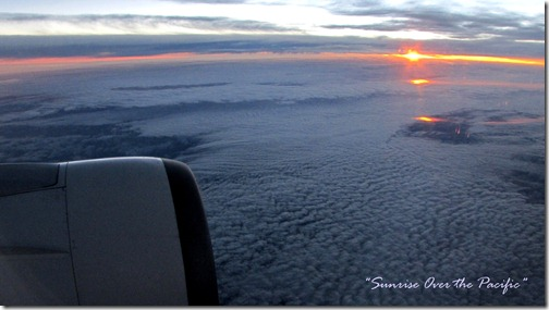 Inflight Sunrise