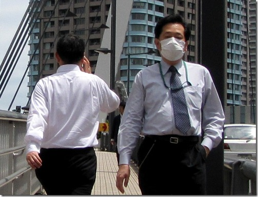 Wearing Dust Mask